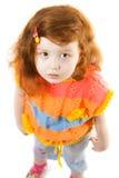 Pouca menina da curiosidade Foto de Stock Royalty Free