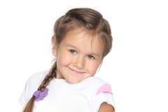 Pouca menina da escola Fotos de Stock