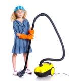 Pouca menina da limpeza Imagens de Stock