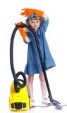 Pouca menina da limpeza Imagem de Stock