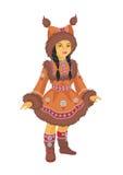 Pouca menina de Chukchi Fotos de Stock Royalty Free