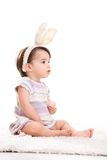 Pouca menina de coelho Imagens de Stock Royalty Free