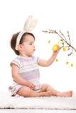 Pouca menina de coelho Fotografia de Stock