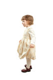 Pouca menina de dança Tiro do estúdio sobre o fundo branco Imagem de Stock Royalty Free