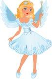 Pouca menina do anjo Imagem de Stock