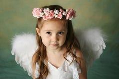Pouca menina do anjo Fotografia de Stock