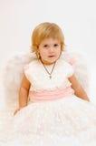 Pouca menina do anjo Imagem de Stock Royalty Free