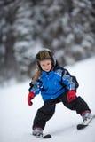 Pouca menina do esqui Foto de Stock Royalty Free
