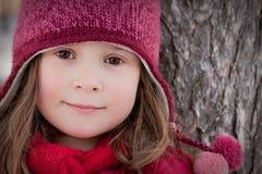 Pouca menina do inverno Fotografia de Stock