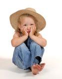 Pouca menina do país Imagens de Stock Royalty Free