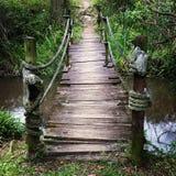 Pouca ponte de madeira Fotos de Stock Royalty Free