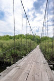 Pouca ponte de madeira velha na vila Foto de Stock Royalty Free
