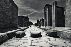 Pouca rua em Pompeii, Itália Imagem de Stock