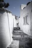 Pouca rua na ilha do Hydra, Grécia Foto de Stock Royalty Free