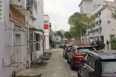 Pouca rua traseira Singapura da Índia imagem de stock royalty free