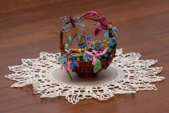 Pouca ucha com flores handmade Fotos de Stock Royalty Free