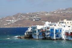 Pouca Veneza de Mykonos - consoles gregos Fotografia de Stock Royalty Free