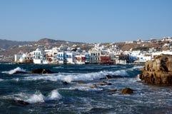 Pouca Veneza em Mykonos Fotografia de Stock Royalty Free