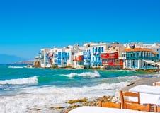 Pouca Veneza em Mykonos Imagem de Stock