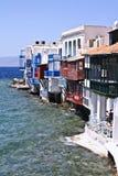 Pouca Veneza Mykonos Grécia Imagem de Stock