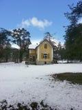 Poucas casa e neve velhas Imagens de Stock