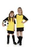 Poucas irmãs do futebol Foto de Stock