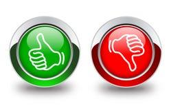 Pouce à travers des boutons Image libre de droits