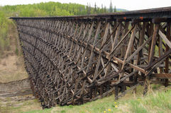 Pouce Coupe Vintage Wooden Railway Trestle Royalty Free Stock Images