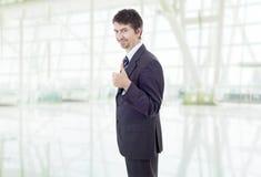 Pouce d'homme d'affaires vers le haut photos libres de droits