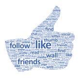Pouce de Facebook vers le haut de signe illustration de vecteur