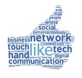 Pouce de Facebook vers le haut de signe Image libre de droits