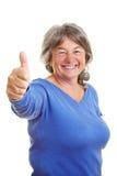 Pouce de fixation de femme âgée vers le haut Photographie stock libre de droits