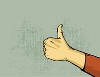 Pouce de main vers le haut Photo libre de droits