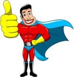 Pouce de super héros d'isolement Images libres de droits