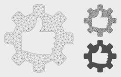 Pouce de vitesse vers le haut de vecteur Mesh Carcass Model et d'icône de mosaïque de triangle illustration libre de droits
