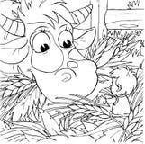 Pouce et vache de Tom Image stock
