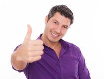 Pouce positif d'homme Image stock
