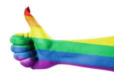 Pouce pour des gays et lesbiennes Photographie stock libre de droits