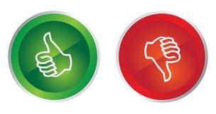Pouce vers le haut en bas des boutons illustration libre de droits