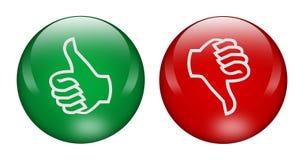 Pouces à travers des boutons illustration libre de droits
