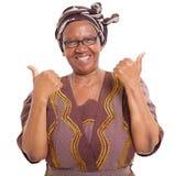 Pouces africains supérieurs  photographie stock