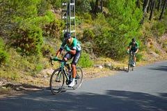 Pouces d'emballer la La Vuelta España de cycliste Images libres de droits
