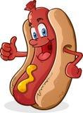 Pouces de hot-dog vers le haut Illustration de Vecteur