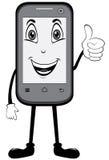 Pouces de téléphone portable vers le haut illustration libre de droits
