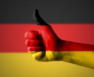 Pouces pour l'Allemagne Photographie stock libre de droits