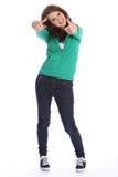 Pouces vers le haut de réussite de fille d'adolescent de lycée Image libre de droits