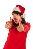 Pouces vers le haut pour Noël Photo libre de droits