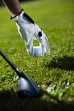 Pouces vers le haut sur le golf Photo libre de droits