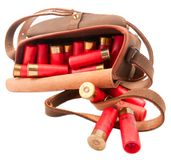 Pouch with cartridges Royalty Free Stock Image