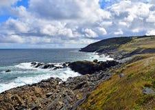 Pouch Cove coastline, NL Canada. Landscape along the Killick Coast, coastline at Pouch Cove, Avalon Peninsula, NL Canada royalty free stock photos